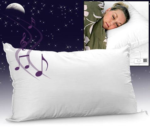 Sound Asleep Pillow: Because Nobody Wants to Listen to Your Crappy Music