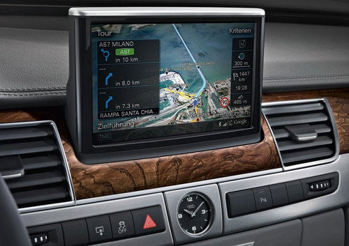 Audi A8: World's First Google Earth-Enabled In-Car Nav System