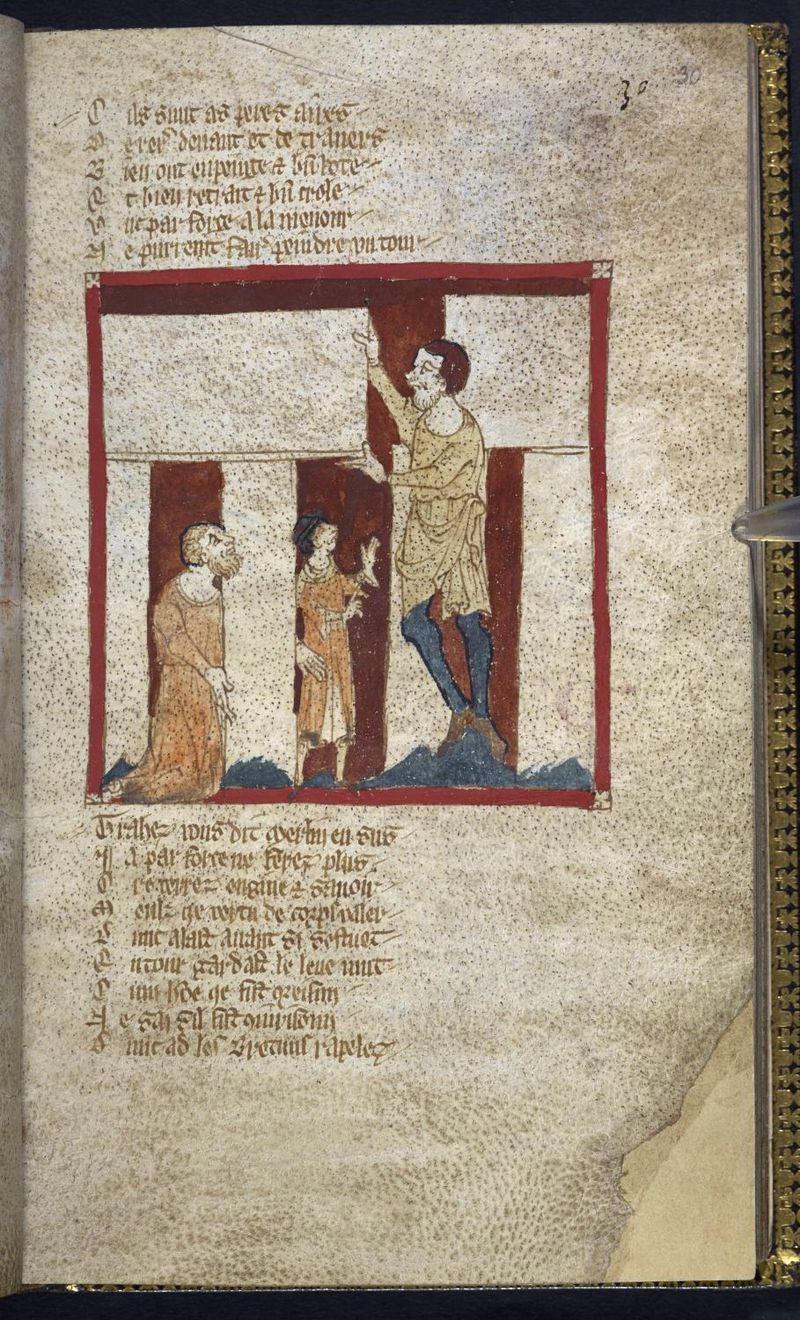 An Exquisite Medieval Manuscript Shows Merlin Building Stonehenge