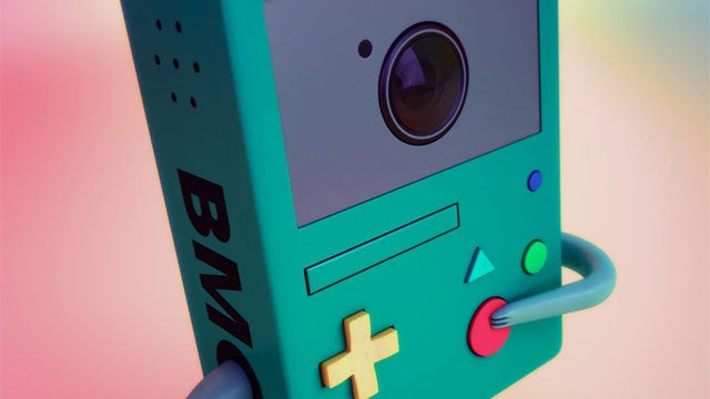 Adventure Time's Beemo is a Game Boy AND a Camera