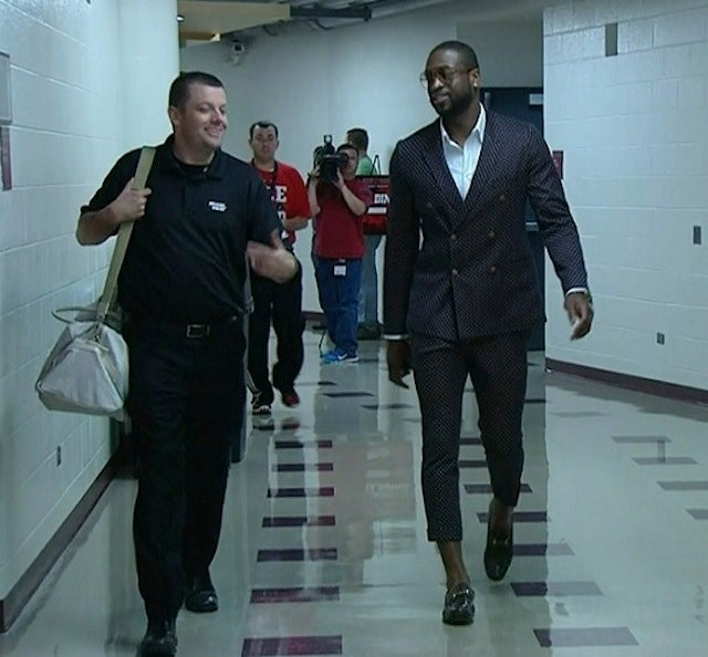 Dwyane Wade Sometimes Wears Clothes