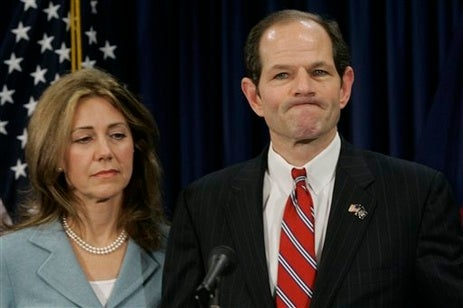 In Which Eliot Spitzer Does Something He Shouldn't — With a Lady!