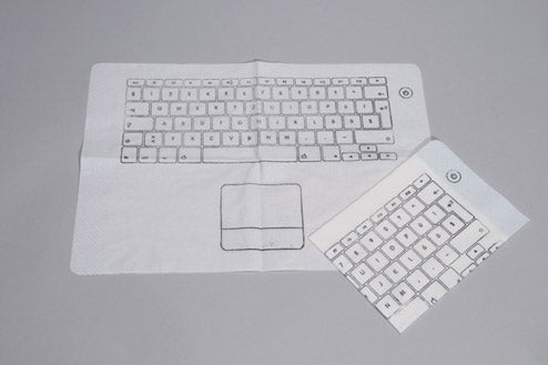 Ridiculous Keyboard Napkin Crumb-Proofs Your Laptop