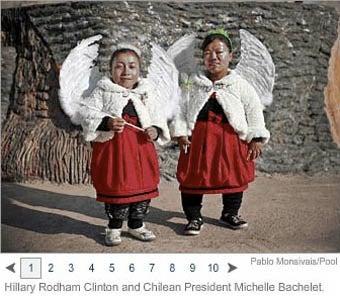Hillary Clinton Mistaken for South American Midget Angel