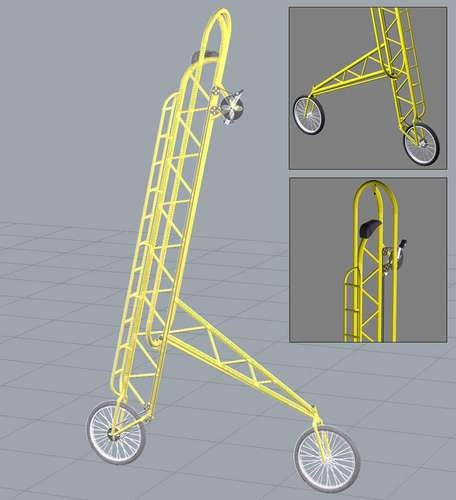SkyWalker 12-Foot-Tall Bicycle Probably Requires Jedi Abilities