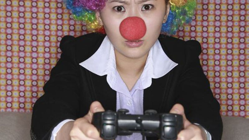 Fake Gamer of the Week: If She's Going to Play With You Clowns She Might as Well Look the Part