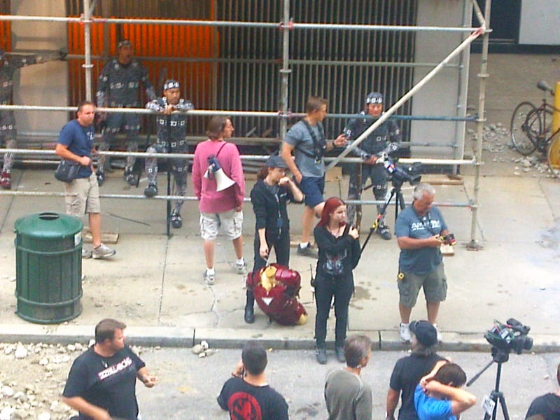 More set photos from the Avengers, including Iron Man's first appearance