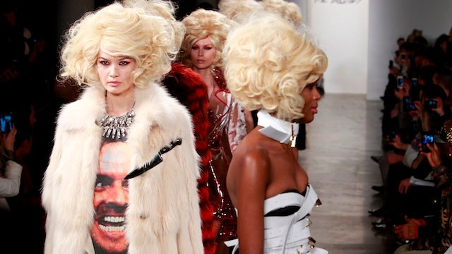 Blood is the new black at this deranged horror-themed fashion show