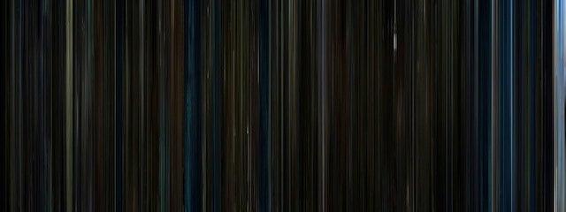 Classic Sci-Fi Films Represented as Multicolored Barcodes
