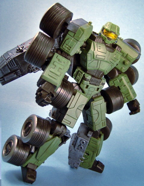 Custom Master Chief Transformer: (Gasp) Having...Trouble... Breathing!