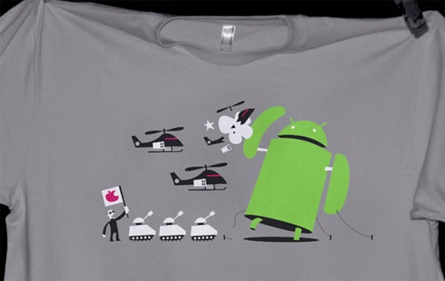 Android Plays King Kong Against Steve Jobs' Helicopters