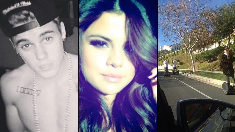 Justin Bieber and Selena Gomez Reunite for Romantic Segway Excursion