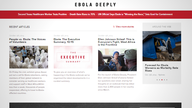 """Ebola Deeply"" Provides Non-Alarmist News on the Current Situation"