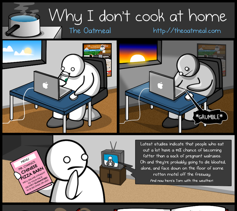Why Most Geeks Don't Cook At Home