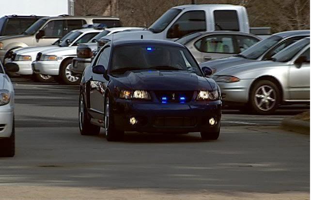 A very unusual police car