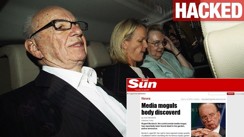 Rupert Murdoch Found Dead, According to Hacked Murdoch Paper