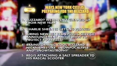 David Letterman Hates Snow, Noxzema