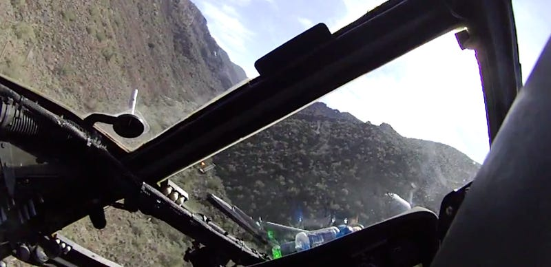 Flat Out At Low-Level Flying In A HH-60G Pave Hawk!