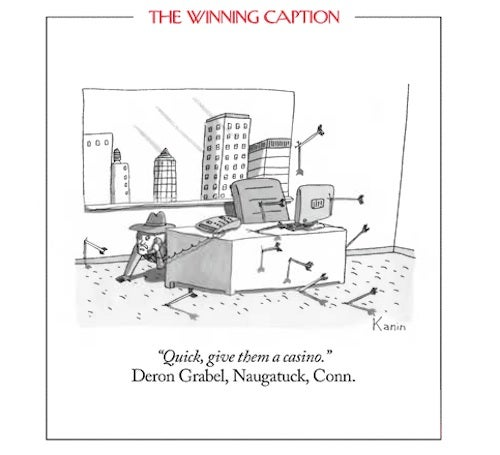 This Week's New Yorker Cartoon Caption Contest Winner: Pretty Racist