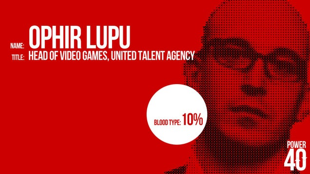 ↓ 28. Ophir Lupu, Video Game Agent, UTA