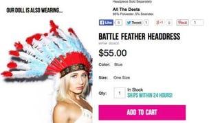 "Company claims Native American ""Battle Headdress"" not racist"