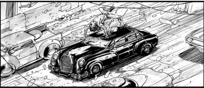 Storyboards make the abandoned Neuromancer movie look like a conventional action flick