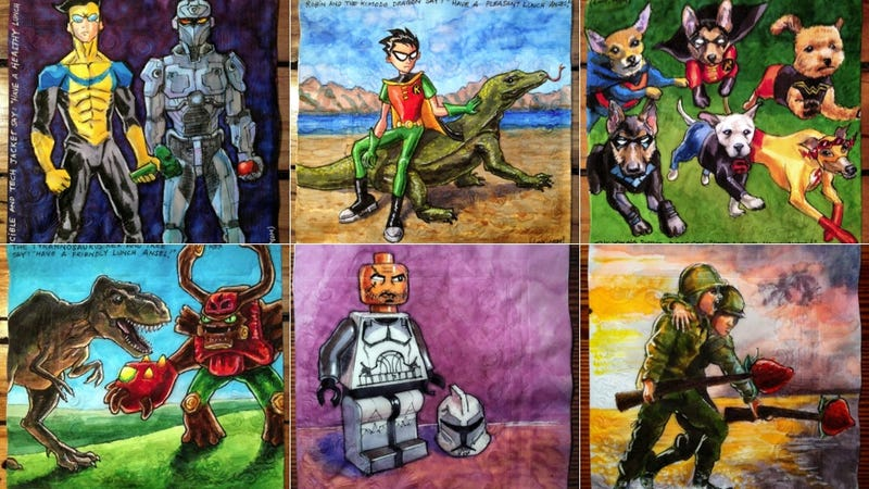 Lovely Mom Draws Awesome Pictures on Napkins for Her Son's Lunch