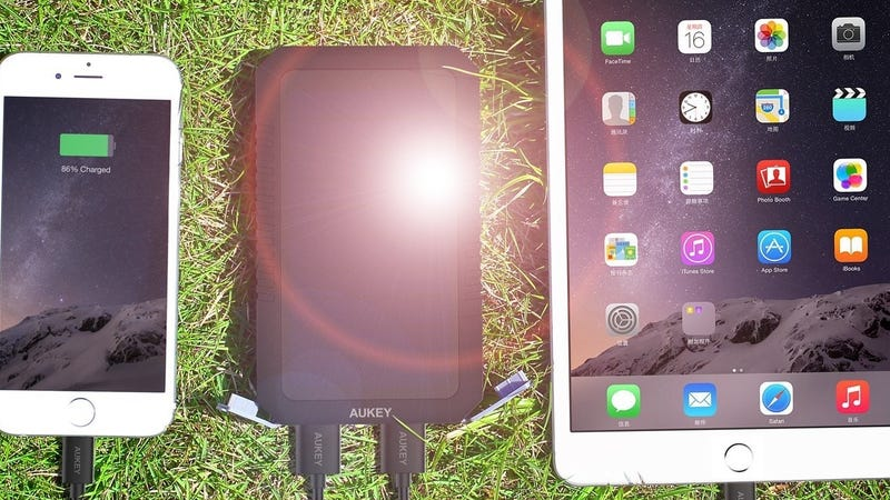 This $25 Aukey Battery Pack Recharges Itself With a Solar Panel