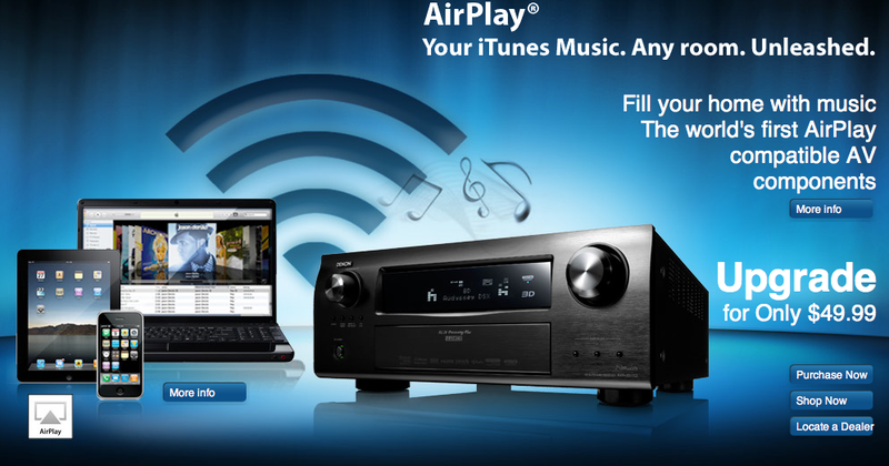 You Can Get AirPlay on Your Denon Receivers Now
