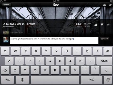 500px App Gallery