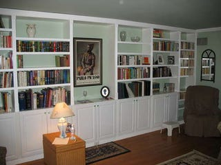 Get Built-In Bookcases Inexpensively by Using Pre-Made Parts