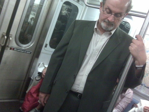 Salman Rushdie Rides the 6 Train