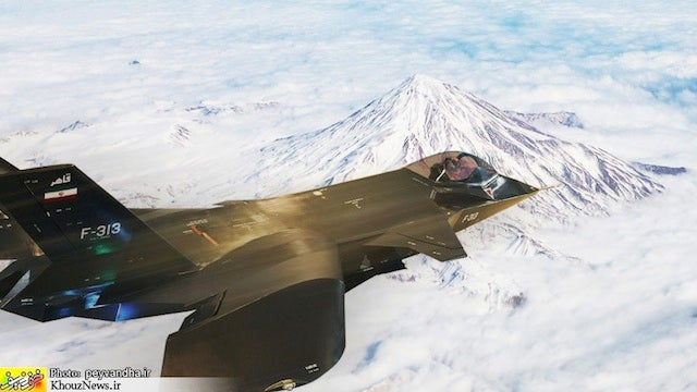 Iran Photoshopped Its New Stealth Fighter Jet to Look Like It Was Flying When It Totally Wasn't