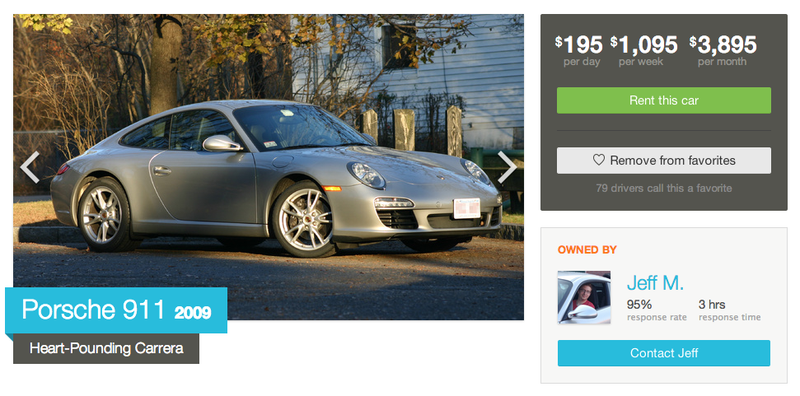 """""""I would love to rent your Porsche as a gift for..."""""""