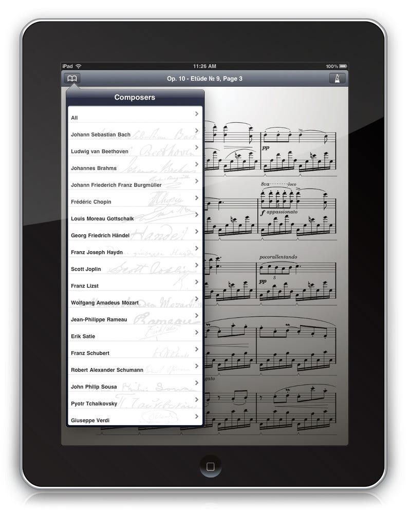 The iPad Is Perfect for Sheet Music