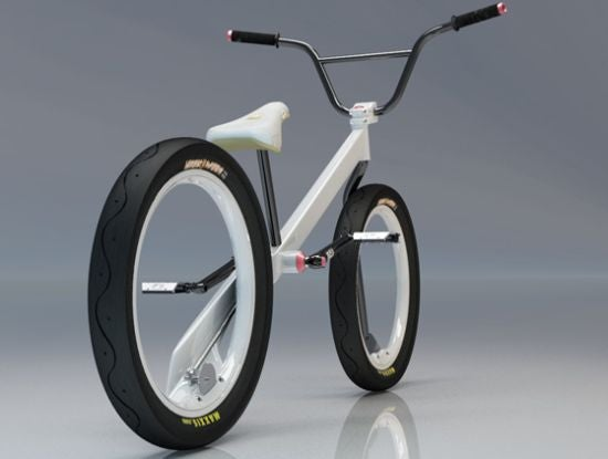 Hubless Zigzain Bicycle Concept Powered by Simple Driveshaft