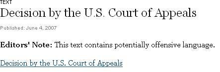 Court Says Swear Away, And Screw The F.C.C.