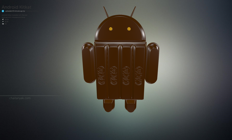 Some Brilliant Idiot Made the Android KitKat Logo in 3D and It's Great