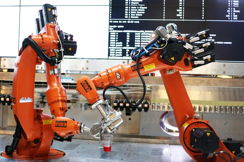 Bartending robot mixes (and remixes) crowdsourced drink recipes
