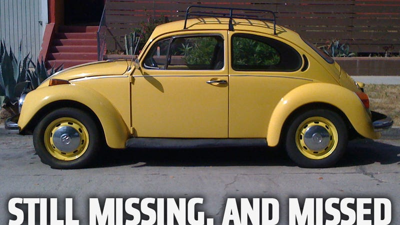 My Beetle's Still Missing, But All Of You Are Amazing
