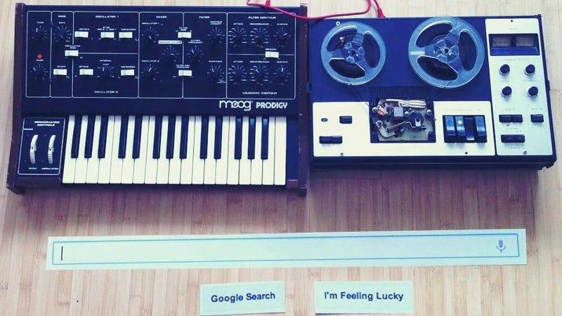 The Moog Synthesizer Google Doodle IRL