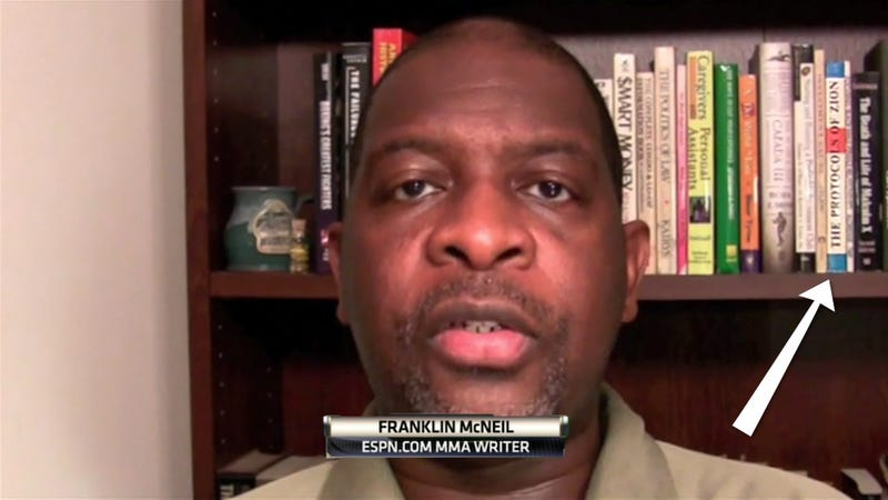 ESPN Writer Has The Protocols Of Zion On His Bookshelf