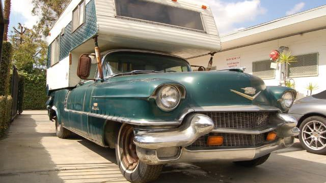 Conceivable camping comfort with this custom Cadillac creation