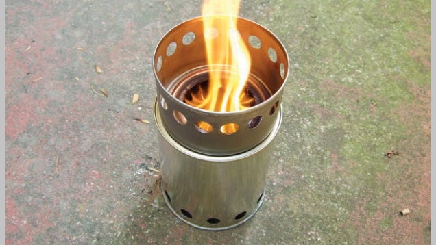 how to make a portable wood stove from besser blocks
