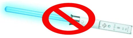 Wiimote Lightsaber May Be Axed: Nintendo is Way Too Overprotective