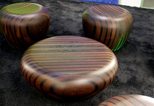 Bright Woods' Wooden Chairs Look Like Zebra Turds