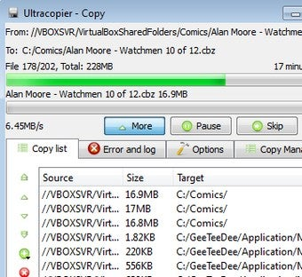 UltraCopier Is a Variable-Speed Batch File Copier