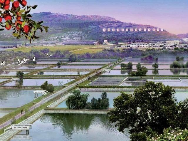 Ezek Észak-Korea hivatalos háttérképei