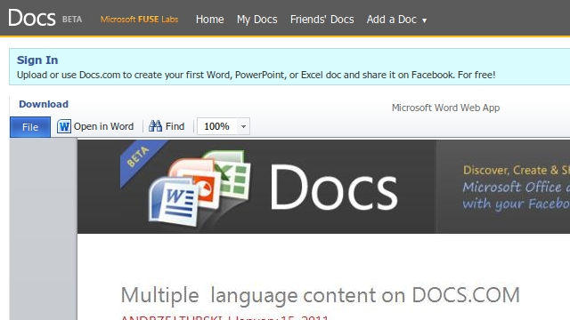 Microsoft Office Web Apps Get Performance Upgrade, Adds 30 Languages