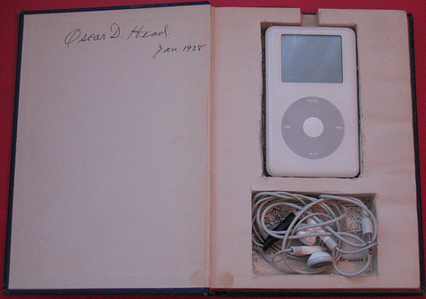 Carry your iPod in a book